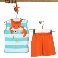 Striped Baby Boy Athlete Short