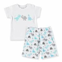Üçgen Baskılı Kısa Kol Erkek Bebek Pijama Takımı