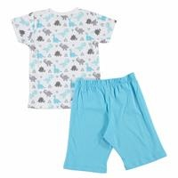 Triangle Feature Printed Short Sleeve Baby Pyjamas