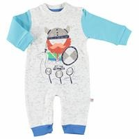 Vikings Baby Boy İnterlock Footless Romper