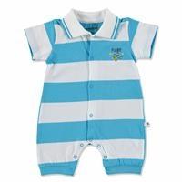 Summer Baby Boy Plane Group Supreme Short Sleeve Rib Romper