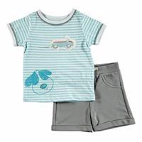 Summer Baby Boy Gravel Supreme T-shirt Short 2 pcs Set