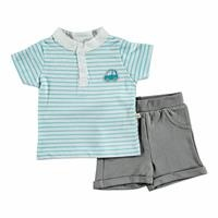 Summer Baby Boy Gravel Supreme T-shirt Short 2 pcs Set