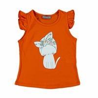 Kız Bebek Retro Kedi Süprem Tshirt