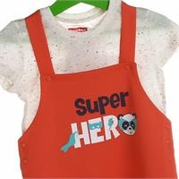 Super Heroes Baby Tshirt Jumpsuit Set