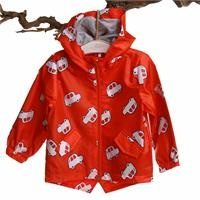 Car Ptrinted Baby Boy Rain Coat