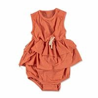 Summer Baby Girl Orange Dress Bodysuit