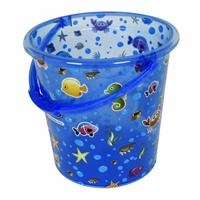 Transparent Patterned Baby Bath Bucket