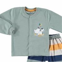 Lion Baby Snaps Cardigan Footed Pant Set 2pcs