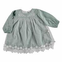 Kız Bebek Dantelli Nakışlı Elbise