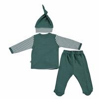 Rabbit In Hat Baby Bodysuits Footed Pants Hat 3 pcs Set
