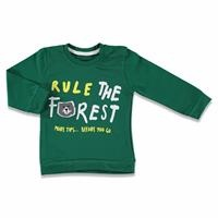 Bear In The Forest Baby Boy Long Sleeve Tshirt
