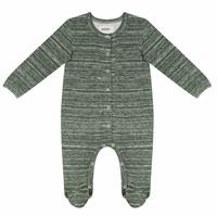 Organic Printed Baby Boy Long Sleeve Romper