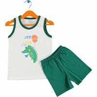 Sweet Animals Baby Athlete Short Set
