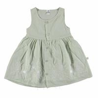 Embroidered Button Baby Girl Dress