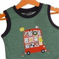 Baby Boy Bus Printed Striped Athlete