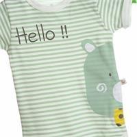 Bebek Bertin Çizgili Kısa Kol Body