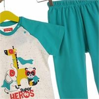 Super Heroes Baby Pyjamas Set