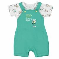 Baby Boy Safari Theme Short Dungarees Tshirt Set