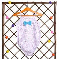 Flowered Baby Girl Rope Strap Bodysuit