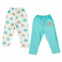 Baby Boy Elephant Footless Trousers 2 Pack