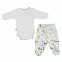 Baby Boy Crocodile Bodysuit Footed Trousers