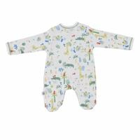 Baby Boy Crocodile Snaps Footed Romper