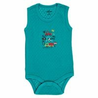 Summer Baby Boy Minibus Rib Bodysuit