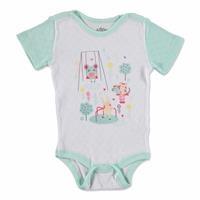 Summer Baby Girl Park Rib Bodysuit