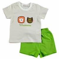 Yaz Erkek Bebek Safari Adventure Pamuk Kısa Kol 2li Tshirt-Şort