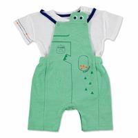 Yaz Erkek Bebek Kayıp Timsah Şort Salopet-Tshirt Takım