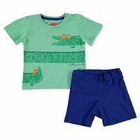 Yaz Erkek Bebek Kayıp Timsah Tshirt-Şort Takım
