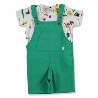 Summer Baby Boy Alligator T-shirt Dungarees Set