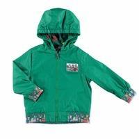 Summer Baby Boy Happy Animals Micro Rib Rain Coat