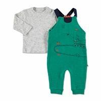 Yaz Erkek Bebek Kepçe İki İp Uzun Kol Patiksiz Çıtçıtlı Yaka 2li Salopet-Sweatshirt