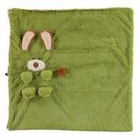 Köpek 2D Pelüş Battaniye Yeşil 75x75
