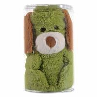 Dog 2D Plush Baby Blanket Green 80x100 cm