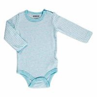 Striped Rib Baby Long Sleeve Snaps Neck Bodysuit