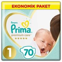 Baby Diaper Premium Care Size 1 Newborn Economic Pac 2-5 kg 70 pcs