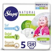 Natural Baby Diapers Size 5 Junior 11-18 kg 24 pcs
