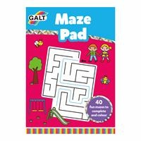 Maze Pad / Fun Maze Puzzle Coloring Book Ages 3 +