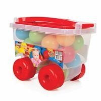 Kids Balls Trolley 6 cm 24 pcs