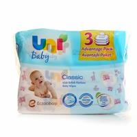 Uni Wipes Classic Wet Baby Towel Advantage Package 3x56 Pcs