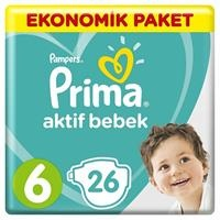 Active Baby Diapers Size 6 Extra Large Economic Pack 15+kg 26 pcs