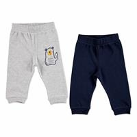 Basic Piece Printed Baby Trousers 2 pcs