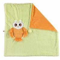 Baykuş 2D Pelüş Battaniye Yeşil 75x75