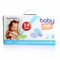 Newborn Boy Wet Cotton Wipes-24 packs