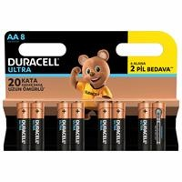 Assorted Turbomax AA Battery 6+2 Pieces