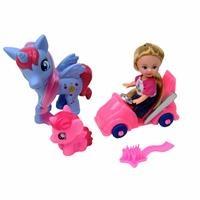 Sevimli Arabalı Atlı Bebek Asortili