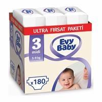 Bebek Bezi 3 Beden Midi Ultra Fırsat Paketi 180 Adet